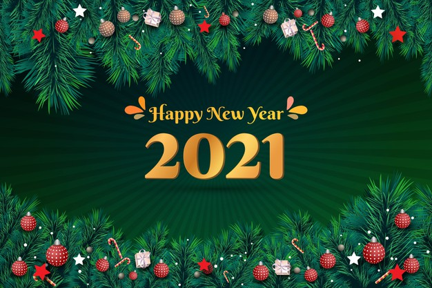 happy new year green background with golden 2021 178175 35